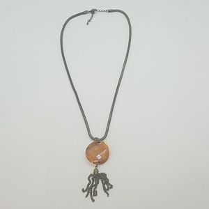 Tassel sunburst twist Swarovski necklace new